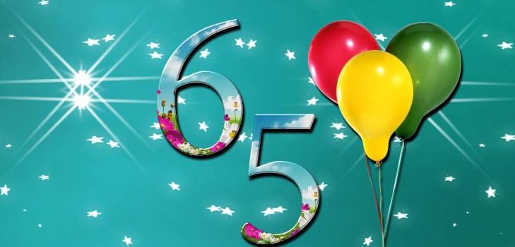 Трогательные и душевные поздравления с юбилеем для женщины 65 лет