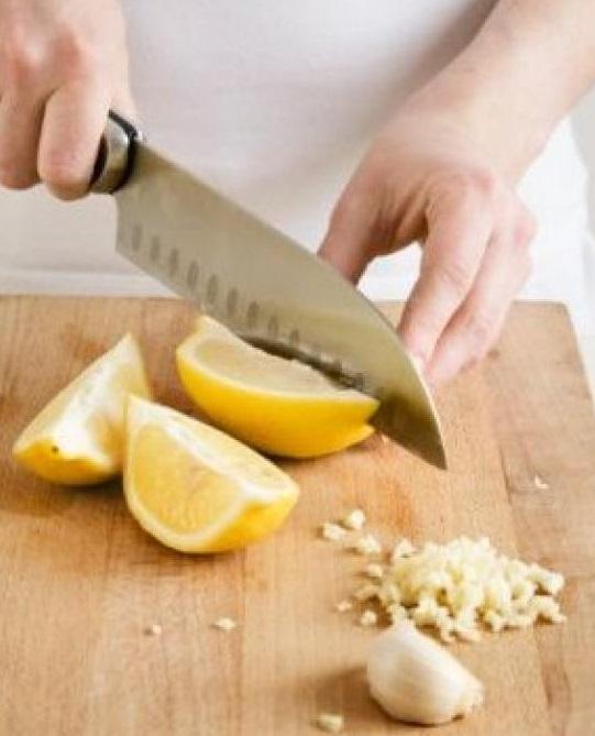 Чеснок с лимонами