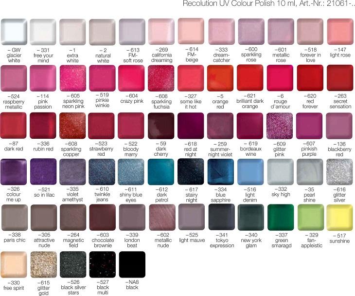 Широкий спектр ярких и модных цветов LCN Recolution