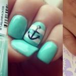 Стильный и свежий маникюр 2015: ногти мятного цвета, фото