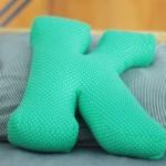 Подушка-буква своими руками