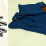 Мужские летние перчатки без пальцев спицами