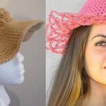 Женская летняя шляпка крючком
