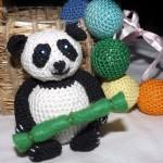 Вязаная игрушка панда своими руками