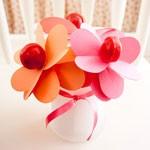 Цветок-валентика в подарок на День влюбленных