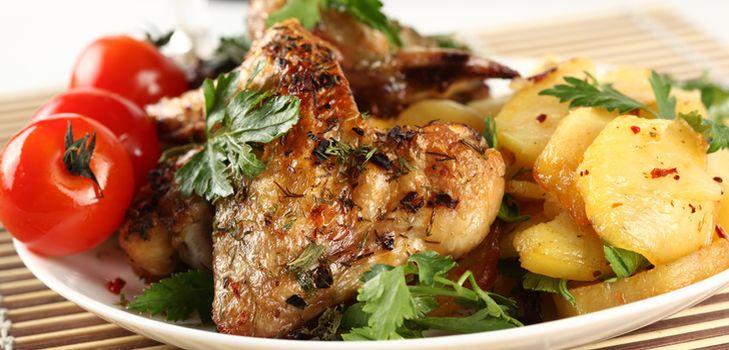 рецепты запеченного в духовке картофеля с курицей