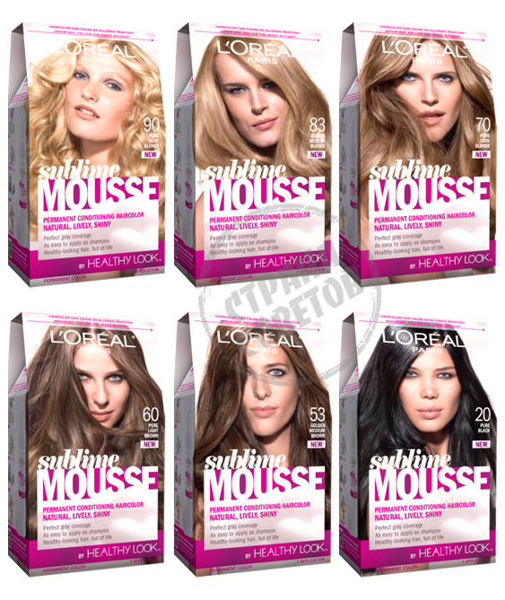 Loreal sublime mousse краска-мусс для волос