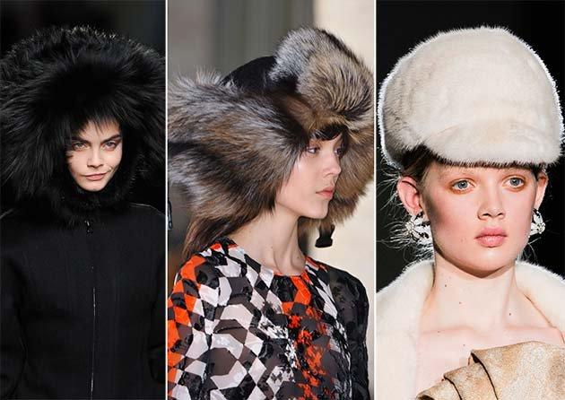 шапки в сочетании с аксессуарами