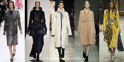 Меховые пальто становятся актуальными в сезоне 2014-2015 года