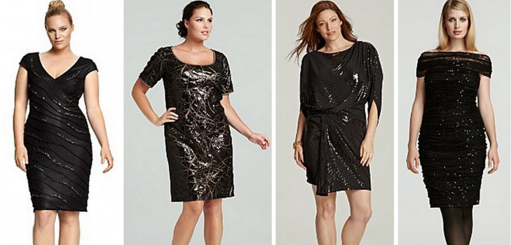Festive dresses for full for New year 2016: the most ...