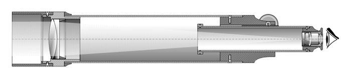 Схема телескопа-рефрактора заводского изготовления